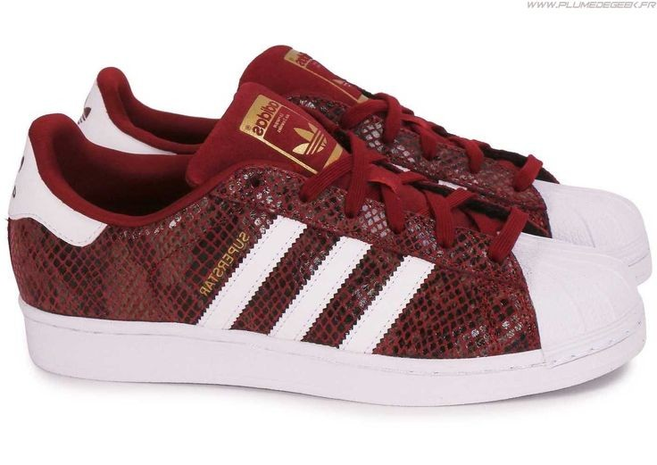 adidas superstar femme bordeaux snake Off 55% - www ...